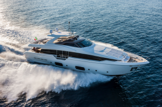 View large version of image: Superyacht Ferretti 960 receives Motor Boat Award 2014