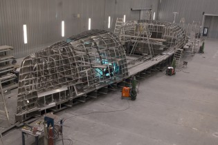 View large version of image: Jongert working on new 32m superyacht 3200P
