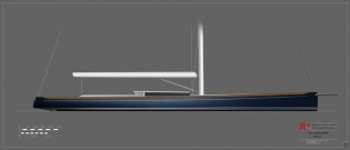 View large version of image: Rob Doyle Design unveils 120ft/36m Cafe Racer/Bucket Performance Sloop Concept