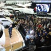 James Corden unveils new Sunseeker 75 Yacht at London Boat Show 2014