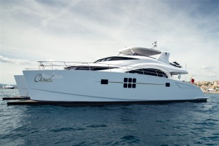 View large version of image: 70 Sunreef Power Yacht CLOUDS to be displayed at Miami Yacht & Brokerage Show 2014
