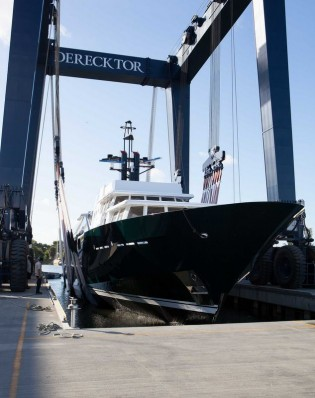 View large version of image: Derecktor Florida re-launches Feadship superyacht HIGHLANDER