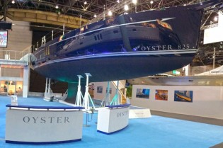 View large version of image: New contract for Oyster 825 Yacht signed by Oyster Marine at boot Dusseldorf 2014