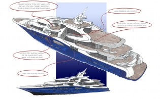 View large version of image: Impressive 88m mega yacht Z10 concept by Oceanco and Michael Leach Design