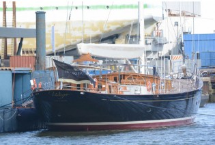 View large version of image: New 48m superyacht WISP (hull 393) launched by Royal Huisman
