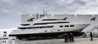 View large version of image: New 60m mega yacht CRN 133 to be launched on March 1, 2014