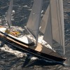 New Alloy superyacht MONDANGO3 under sail