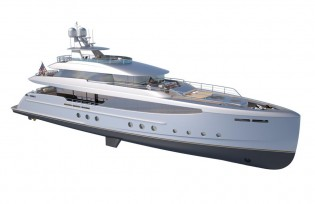 View large version of image: Burger Boat presents new 44m superyacht Burger 144 concept at Miami Yacht Show