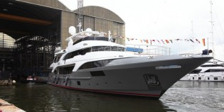 View large version of image: Third Classic Supreme 132 superyacht BS003 launched by Benetti