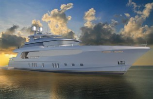 View large version of image: Burger Boat introduces new 39m superyacht Burger 128 RPH concept by Miami Yacht Show