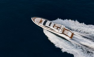 View large version of image: World debut for Overmarine superyacht Mangusta 110 at Miami Boat Show