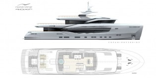 View large version of image: New superyacht 40XP concept introduced by Numarine