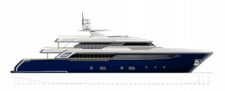 View large version of image: Letters of intent for construction of two new 44m superyachts signed by CRN