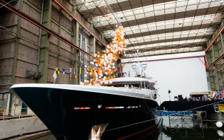 View large version of image: New Amels LE180 superyacht Hull 466 launched