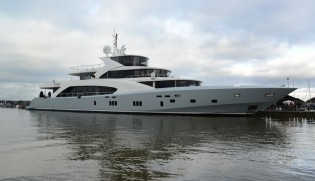 View large version of image: Second 5000 Fly superyacht BELONGERS launched by Coauch