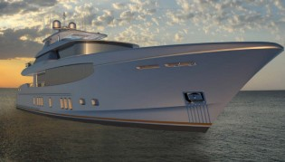 View large version of image: 34m superyacht Burger 112' RPH concept by Burger Boat and Gregory C. Marshall