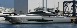 View large version of image: Riva launch 122' superyacht MYTHOS at CRN Ancona