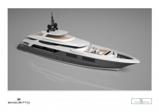 View large version of image: Baglietto starts construction of its 54m Superyacht designed by Francesco Paszkowski