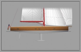 View large version of image: Brooklin Boat Yard starts working on 74ft luxury yacht FRERS 74