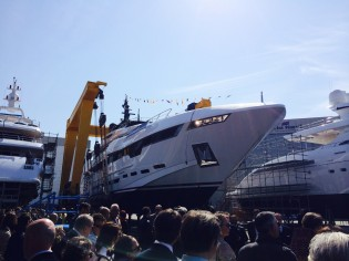 View large version of image: New 48m superyacht POLARIS launched by Rossinavi