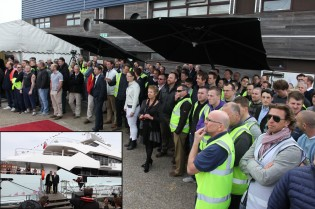 View large version of image: Official British launch for first Sunseeker 155 Yacht BLUSH