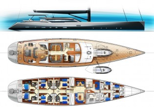 View large version of image: Tony Castro introduces new 44m Charter Yacht project