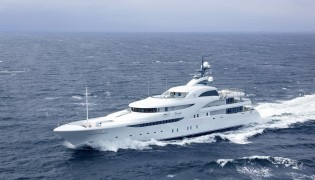 View large version of image: 82m mega yacht GRACEFUL delivered by Blohm + Voss