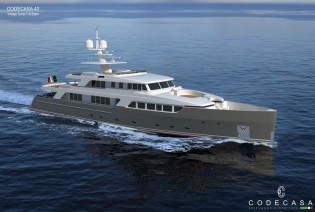 View large version of image: New Codecasa 43 - Vintage Series Yacht Hull F76 under construction