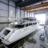 Hull and superstructure of 55m Heesen superyacht AZAMANTA joined together