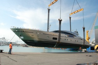 View large version of image: New AB116 superyacht launched by AB Yachts - FIPA Group