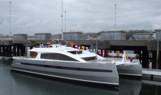 View large version of image: First superyacht Long Island 85' launched by JFA Yachts