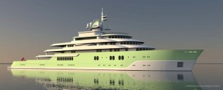 View large version of image: Matthew Trustam Design introduces 120m MAZU Yacht Concept