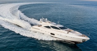 View large version of image: Overmarine Yacht MANGUSTA 110 fitted with Seakeeper gyro stabilization system