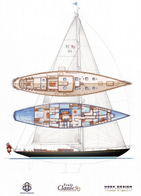 View large version of image: Third Truly Classic 90 Yacht under construction at Claasen