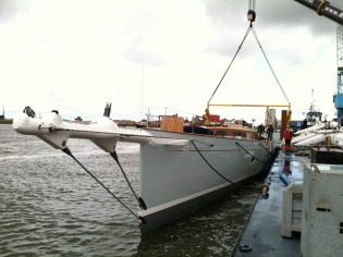 View large version of image: Royal Huisman launch 46m superyacht Project 392