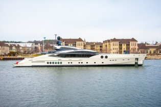 View large version of image: Second PJ170 superyacht BLISS launched by Palmer Johnson