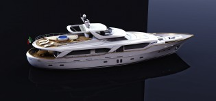 View large version of image: BSD 108RS superyacht BLUE BERRY launched by Benetti Sail Division