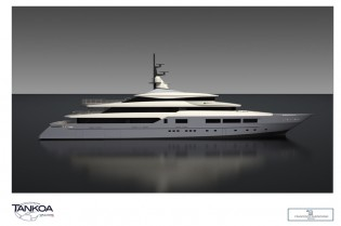 View large version of image: New 69m mega yacht S693 taking shape at Tankoa Yachts