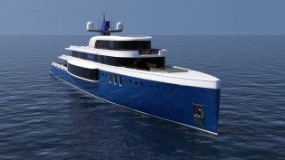 View large version of image: Tim Gilding Marine Design presents 73m mega yacht Project SAPPHIRE