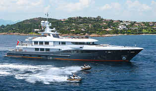 View large version of image: Amels 180 super yacht ENGELBERG wins Asia Boating Award 2014