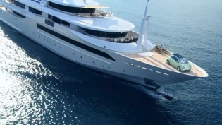 View large version of image: CRN mega yacht CHOPI CHOPI co-protagonist of Fiat's international advertising campaign