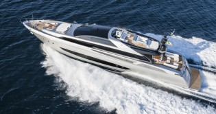 View large version of image: World premiere of Riva 122' Mythos super yacht SOL