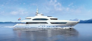 View large version of image: Heesen Yachts launch 47m luxury yacht Project MARGARITA (hull 16847)