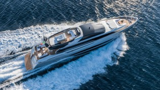View large version of image: Riva's First Aluminium and Largest Yacht SOL