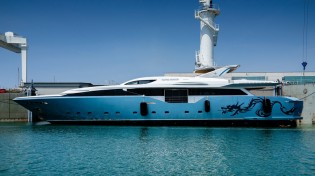 View large version of image: The Italian Sea Group announces launch of Admiral Regale 45 Yacht FLYING DRAGON