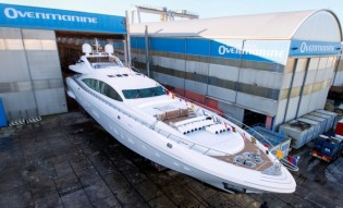 View large version of image: Launch and delivery of 9th Mangusta 165 Yacht PUMPKIN