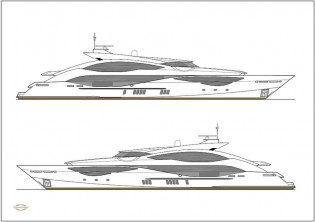View large version of image: New 51m superyacht '168 Sport Yacht' unveiled by Sunseeker