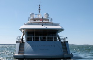 View large version of image: Delivery of second Couach 5000 Fly superyacht BELONGERS
