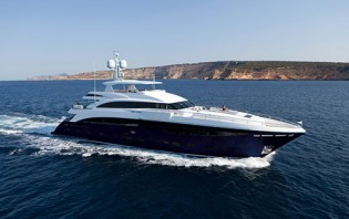 View large version of image: Latest Princess 40M superyacht SOLARIS delivered