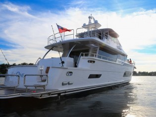 View large version of image: Horizon launches and delivers first V80 superyacht THE ONE